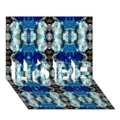 Royal Blue Abstract Pattern Hope 3d Greeting Card (7x5)  by Costasonlineshop
