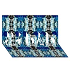 Royal Blue Abstract Pattern #1 Dad 3d Greeting Card (8x4)  by Costasonlineshop
