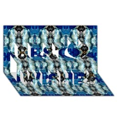 Royal Blue Abstract Pattern Best Wish 3d Greeting Card (8x4)