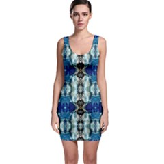 Royal Blue Abstract Pattern Bodycon Dresses by Costasonlineshop