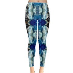 Royal Blue Abstract Pattern Women s Leggings by Costasonlineshop