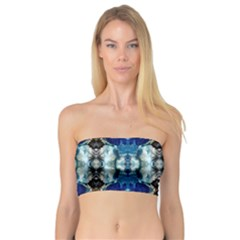 Royal Blue Abstract Pattern Women s Bandeau Tops
