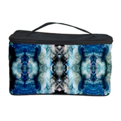 Royal Blue Abstract Pattern Cosmetic Storage Cases by Costasonlineshop