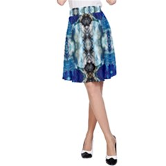 Royal Blue Abstract Pattern A-Line Skirt by Costasonlineshop