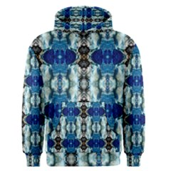 Royal Blue Abstract Pattern Men s Pullover Hoodies