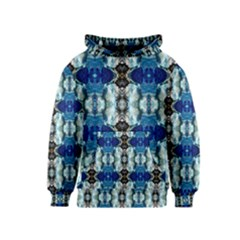 Royal Blue Abstract Pattern Kid s Pullover Hoodies by Costasonlineshop