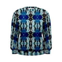 Royal Blue Abstract Pattern Women s Sweatshirts