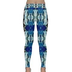 Royal Blue Abstract Pattern Yoga Leggings by Costasonlineshop