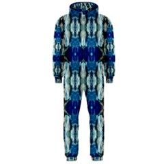 Royal Blue Abstract Pattern Hooded Jumpsuit (men)  by Costasonlineshop