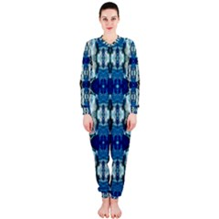 Royal Blue Abstract Pattern Onepiece Jumpsuit (ladies)  by Costasonlineshop