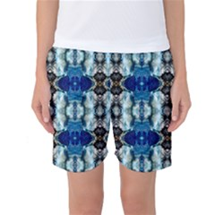 Royal Blue Abstract Pattern Women s Basketball Shorts by Costasonlineshop
