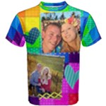 Rainbow Stitch Shirt - Men s Cotton Tee