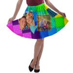Rainbow Stitch - A-line Skater Skirt