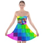Rainbow Stitch - Strapless Bra Top Dress