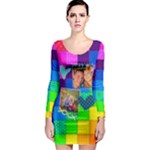 Rainbow Stitch - Long Sleeve Bodycon Dress