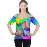 Rainbow Stitch - Cutout Shoulder Tee