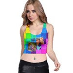 Rainbow Stitch - Racer Back Crop Top