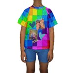 Rainbow Stitch - Kid s Short Sleeve Swimwear