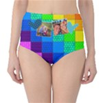 Rainbow Stitch - High-Waist Bikini Bottoms