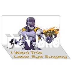 Lasereyesfinal5 Best Bro 3d Greeting Card (8x4)