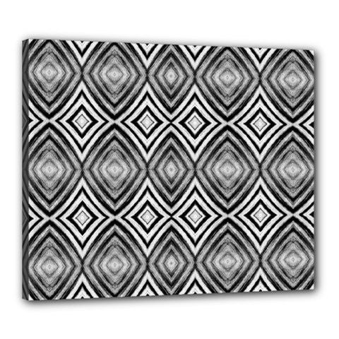 Black White Diamond Pattern Canvas 24  X 20  by Costasonlineshop