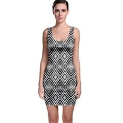 Black White Diamond Pattern Bodycon Dresses by Costasonlineshop