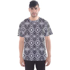 Black White Diamond Pattern Men s Sport Mesh Tees by Costasonlineshop