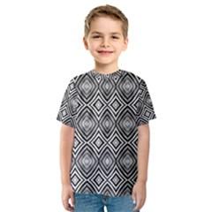 Black White Diamond Pattern Kid s Sport Mesh Tees by Costasonlineshop