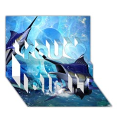 Awersome Marlin In A Fantasy Underwater World You Did It 3d Greeting Card (7x5) by FantasyWorld7