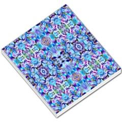 Elegant Turquoise Blue Flower Pattern Small Memo Pads