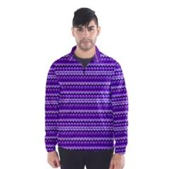 Purple Tribal Pattern Wind Breaker (men) by KirstenStar