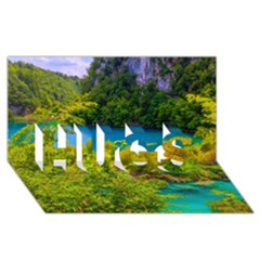 Plitvice, Croatia Hugs 3d Greeting Card (8x4)  by trendistuff