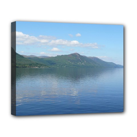 Loch Ness Deluxe Canvas 20  X 16   by trendistuff