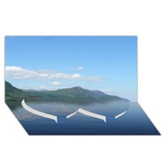 Loch Ness Twin Heart Bottom 3d Greeting Card (8x4)  by trendistuff