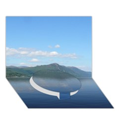Loch Ness Circle Bottom 3d Greeting Card (7x5)  by trendistuff