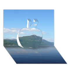 Loch Ness Apple 3d Greeting Card (7x5)  by trendistuff