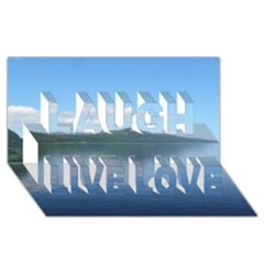 Loch Ness Laugh Live Love 3d Greeting Card (8x4)  by trendistuff