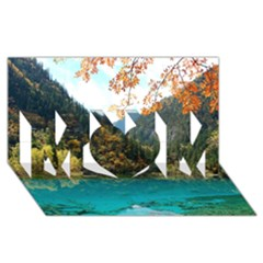 Jiuzhaigou Valley 3 Mom 3d Greeting Card (8x4)