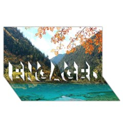 Jiuzhaigou Valley 3 Engaged 3d Greeting Card (8x4)
