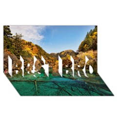 Jiuzhaigou Valley 1 Best Bro 3d Greeting Card (8x4)