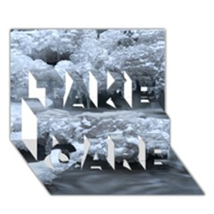 Ice And Water Take Care 3d Greeting Card (7x5)
