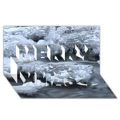ICE AND WATER Merry Xmas 3D Greeting Card (8x4)  by trendistuff