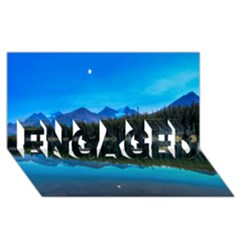 Herbert Lake Engaged 3d Greeting Card (8x4)