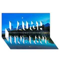 Herbert Lake Laugh Live Love 3d Greeting Card (8x4)