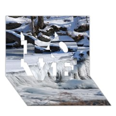 Frozen Creek Love 3d Greeting Card (7x5)  by trendistuff