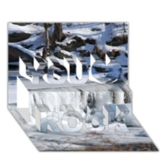 Frozen Creek You Rock 3d Greeting Card (7x5)  by trendistuff