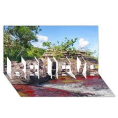 Cano Cristales 2 Believe 3d Greeting Card (8x4)