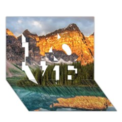 Banff National Park 4 Love 3d Greeting Card (7x5)  by trendistuff