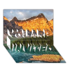 BANFF NATIONAL PARK 4 YOU ARE INVITED 3D Greeting Card (7x5)  by trendistuff