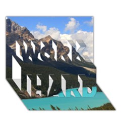 Banff National Park 3 Work Hard 3d Greeting Card (7x5)